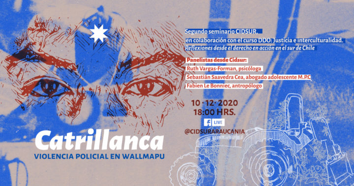 """Seminario abierto CIDSUR """"Catrillanca: violencia policial en Wallmapu"""""""